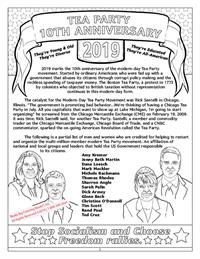 10th Anniversary Tea Party Coloring Book for Kids  - page 1