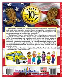 10th Anniversary Modern-Day Tea Party Coloring Book for Kids back cover