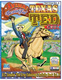 Awesome and Beautiful Texas Ted Cruz Coloring Book vol. 2