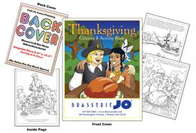 Thanksgiving - Imprintable Coloring & Activity Book