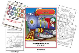Trains - Imprintable Coloring & Activity Book