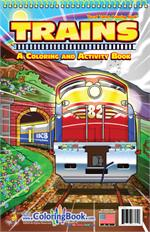 Trains Travel Tablet Coloring Book