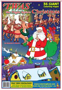 Twas the Night Christmas Coloring Pages
