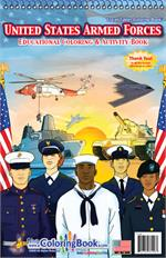 United States Armed Forces Travel Tablet Coloring Book