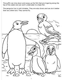 Underwater Adventure Really Big Coloring Book - Penguin