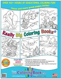 Underwater Adventure Really Big Coloring Book back cover