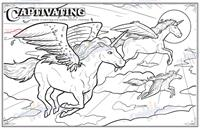 Unicorns Coloring and Activity Book - Captivating