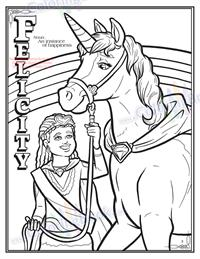Unicorns Coloring and Activity Book - Felicity