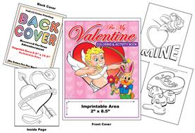 Valentines Day - Imprintable Coloring & Activity Book