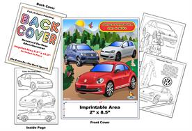 Volkswagen Imprintable Coloring & Activity Book