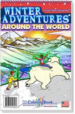 Winter Adventures Travel Tablet Coloring Book