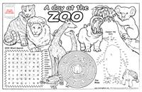 Zoo Animals Colorable Placemat with