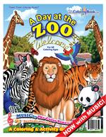 A Day at the Zoo Power Panel Coloring Book with At the Zoo Song
