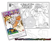 Zoo - 8 page Coloring Book that unfolds into a Placemat©