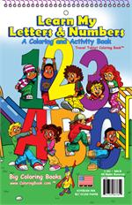 Learn My Letters and Number Coloring Book