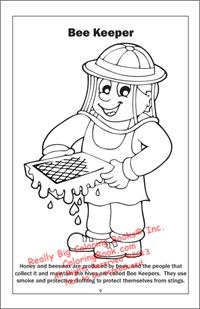 Bee Keeper Coloring Page