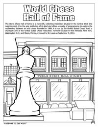 St. Louis Coloring Book - Chess Hall of Fame
