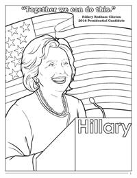 Hillary Clinton Coloring Book - Together
