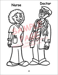 Nurse Doctor Coloring Pages