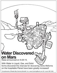 Water Discovered on Mars - Free Online Coloring Pages