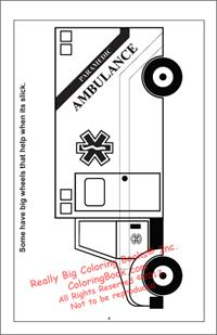 Ambulance Coloring Page