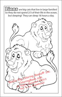 Lions Coloring Page