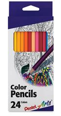 24 ct. Pentel Arts Color Pencils