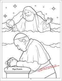 Pope Francis - God coloring page