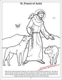 St. Francis of Assisi coloring page