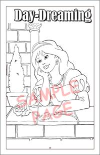 Princesses Travel Tablet Coloring Book - Day Dreaming