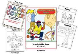 Sports - Imprintable Coloring & Activity Book