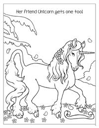 Enchanted TeaParty Coloring Book - Unicorn