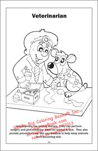 Veterinarian Coloring Page