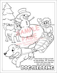 Dog Sledding Coloring Page